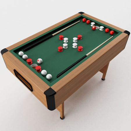 billiards halls: rendering 3D di un paraurti Pool Table