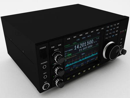 aficionado: representaci�n 3D de una radio amateur