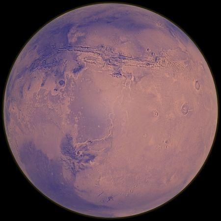 3d rendering of Mars