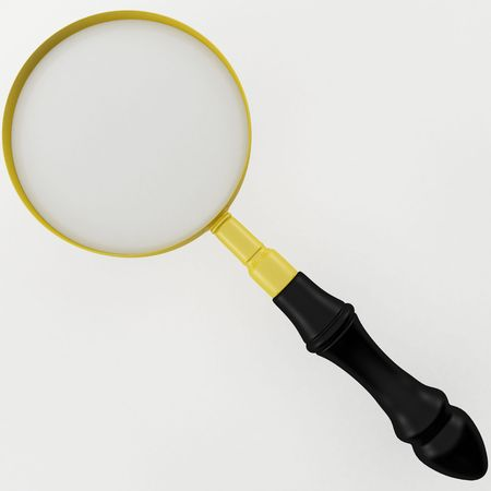 3d rendering of a Magnifying Glass