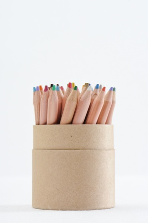 Color Pencil Against White Background photo