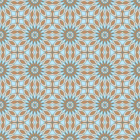 Ethnic tight vector pattern. Color flower circle mandalas Standard-Bild - 161776636
