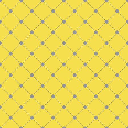 Vector yellow seamless pattern. Background with mesh from points.
