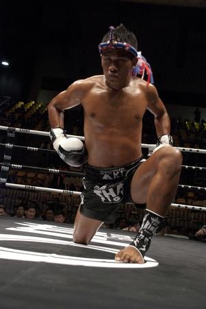 BANGKOK, THAILAND- SEPTEMBER 25: Unidentified players in Thai Fight : Muay Thai.World
