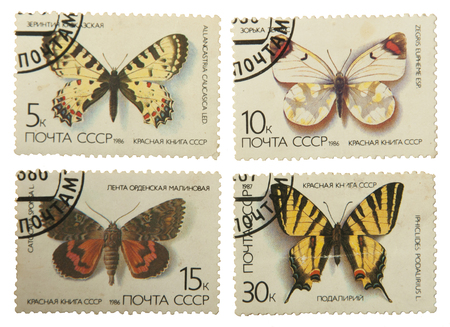 postage: butterflies postage stamps Editorial