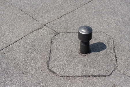 Aerator   Flat Roof Ventilation. Roofing Felt. Roof Ventilated. Photo