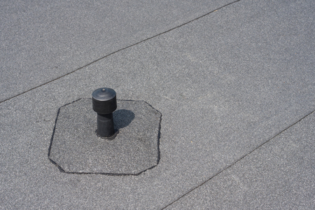 Roof ventilation. Aerator - flat roof ventilation. Roofing felt. Roof ventilated.