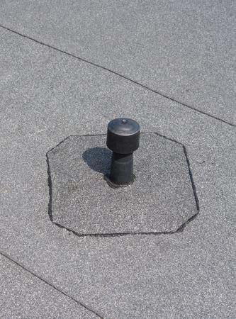 ventilated: Roof ventilation. Aerator - flat roof ventilation. Roofing felt. Roof ventilated.