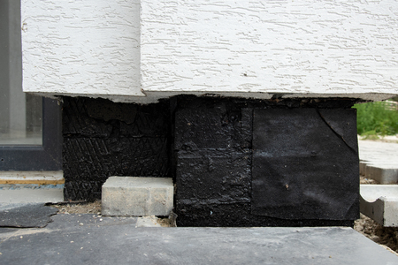 oncrete waterproofing membrane for underground basement walls