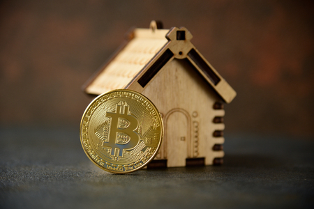 Crypto currency Gold Bitcoin - BTC - Bit Coin. 写真素材