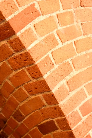 Old red brick wall with an arc background 写真素材 - 122659734