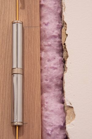 Installation of doors using polyurethane foam mounting