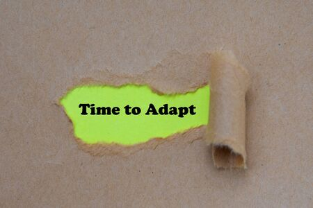 Time to adapt word written under torn paper
