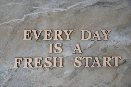 every day is a fresh start , concep image.