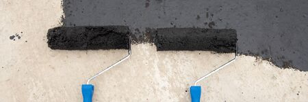 Two roller brush, tools for install waterproofing
