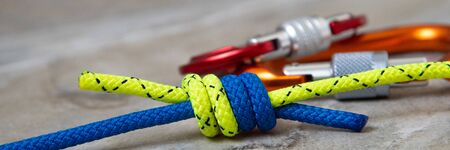 Climbing knots: double fishermans or grapevine knot