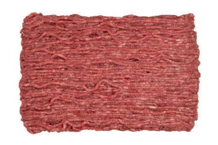Top view of raw minced beef meat
