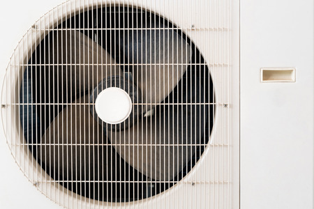 Condenser Unit Coil Fan of an Air Conditioner