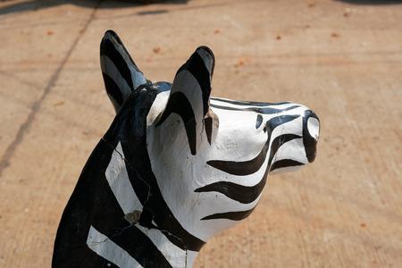 Zebra Head Plaster Decoration Model Imagens