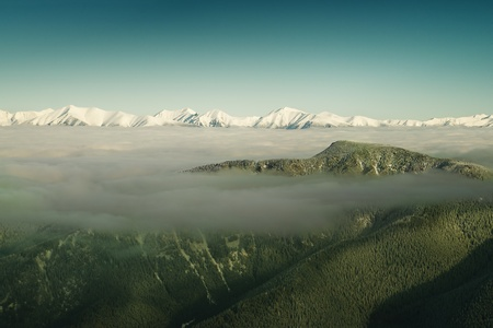 High Tatras over the clouds Stock Photo