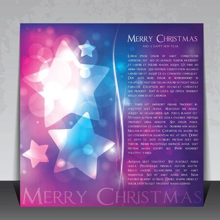 colorful christmas flyer