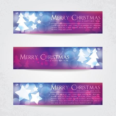 colorful christmas banners Vector