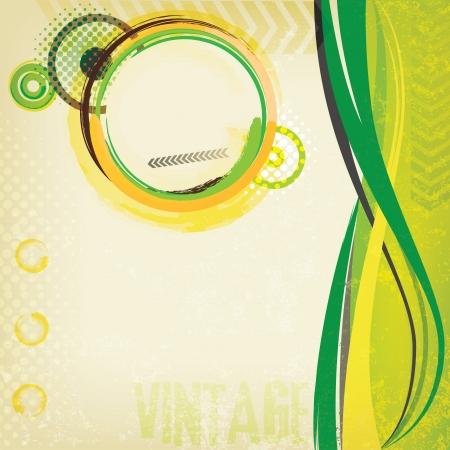 Grungy green card Illustration