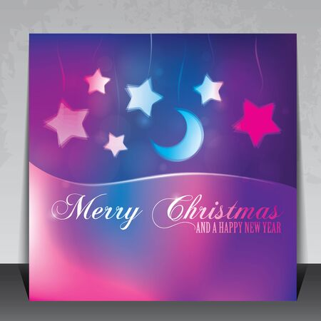 Colorful Christmas card with copy space Illustration