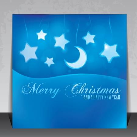 복사 공간이 아름 다운 크리스마스 카드 일러스트