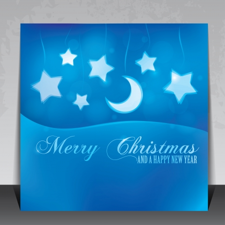 Beautiful Christmas card with copy space Vector