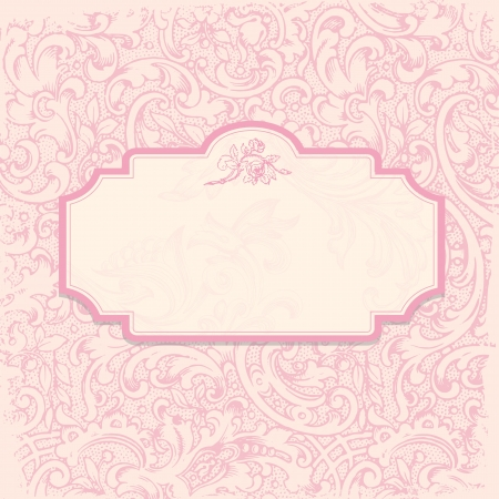 royal person: Vintage elegant invitation card with floral background