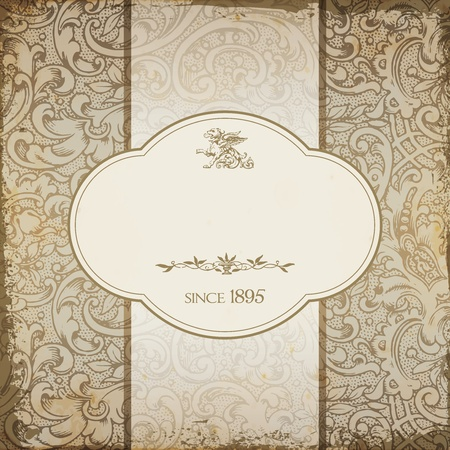 Vintage elegant restaurant menu card with floral background Stock Vector - 18908915