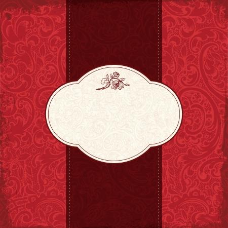 dinner date: Vintage elegant restaurant menu card with floral background