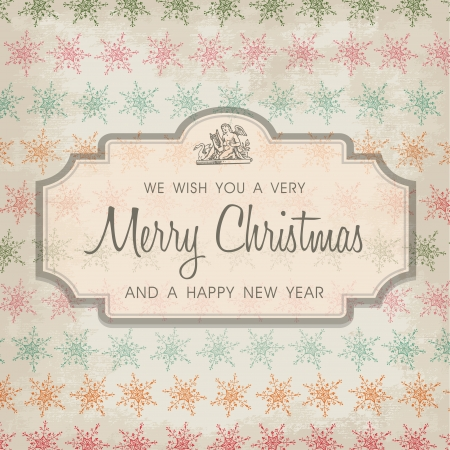 Merry Christmas greeting card ornament decoration background