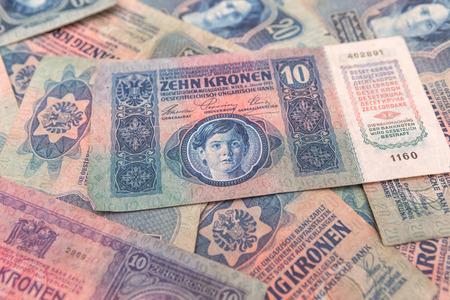 Hintergrund von alten Geld der �sterreichisch-Hungian Geld