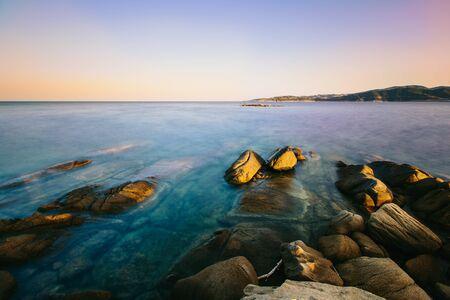 Sunset in Greece, Halkidiki, Sykia - Europe