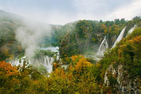 greatest: Greatest waterfalls in Plitvice National Park, Croatia UNESCO world heritage site Stock Photo