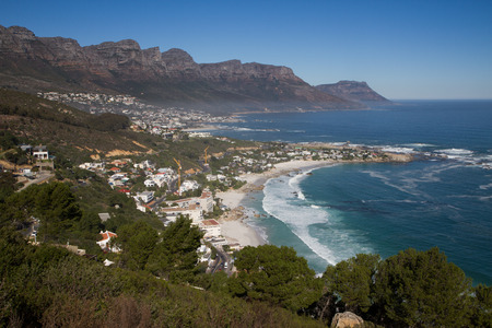 apostles: Clifton beach, Cape Town, South Africa with the Twelve Apostles in the background.