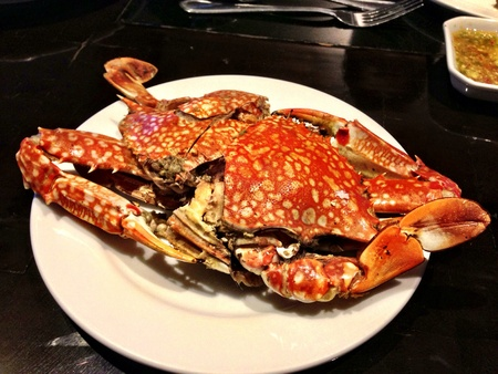 grill: Grill crab