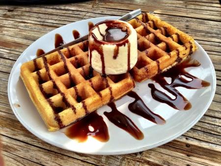 Waffle with icecream