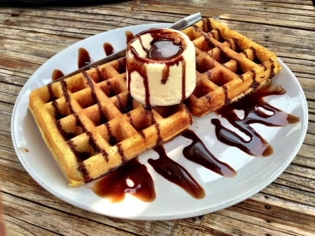 waffle: Waffle with icecream