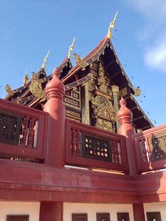 lanna: Lanna Thailand style temple Stock Photo