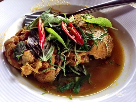 tast: Chicken herbal roast northern Thailand style Stock Photo