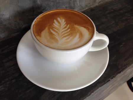 agonist: Latte art Stock Photo