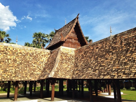 hope: The  Thai Lanna ancient roof
