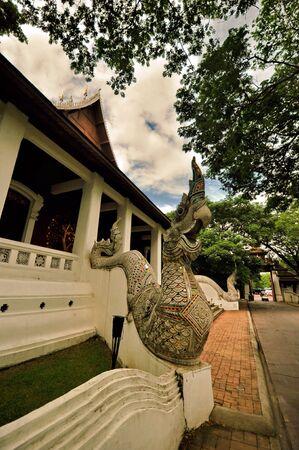 hope: Thai temple and naak thai fairy tale animal