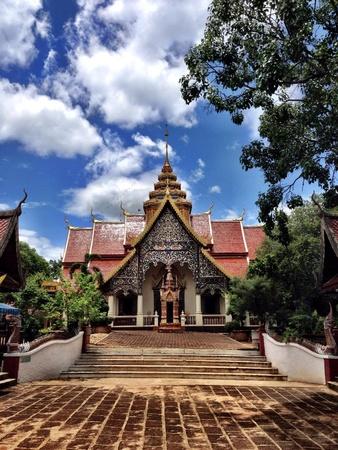 hope: Wat prabath tak parh, Lamphun, thailand Stock Photo