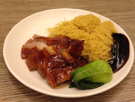 styl: Chinese style Fried noodle with roasted duck