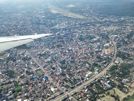 hijack: Chiang Mai city aerial view