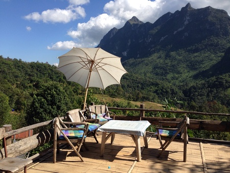 valley view: The relax terrace with green valley view